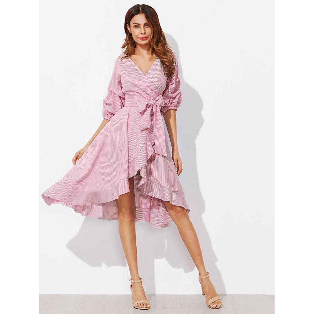Venta al por mayor vestidos alineados azul-Compre online los mejores ...