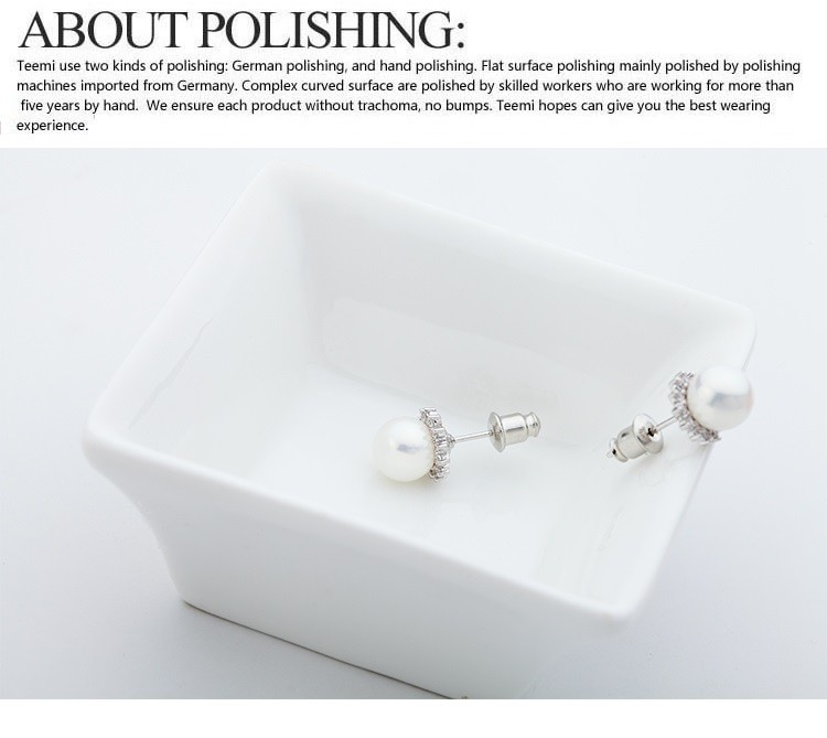 LUOTEEMI Wholesale White Gold Plated Luxury Female Fashion Round White Sea Shell Pearl Stud Earrings