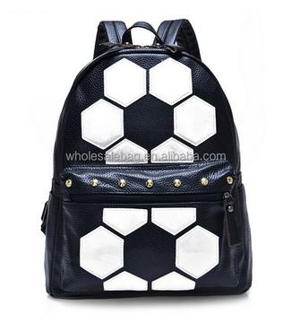 99c5d7b00a1 Mode voetbal grafisch ontwerper naaien pu rugzak tas schooltas rugzak  rugzak tas voor de middelbare school