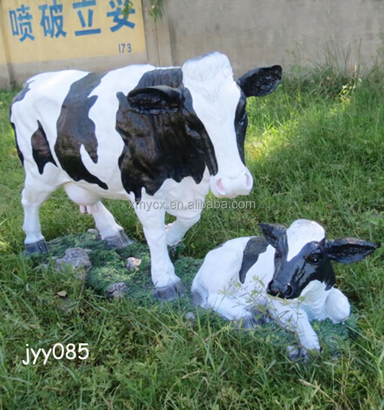Gros Décoration De Jardin Résine Vie Taille Vache Statue - Buy ...