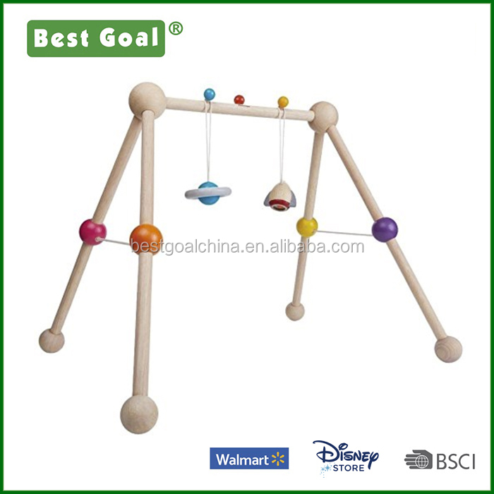 Colorful Planet Baby Wooden Gym Toy
