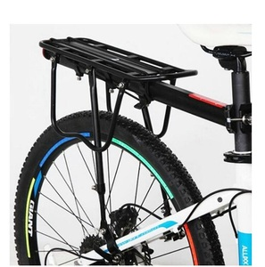 Aluminum Alloy Folding Black Bicycle Luggage Carrier Bike Rear Rack
