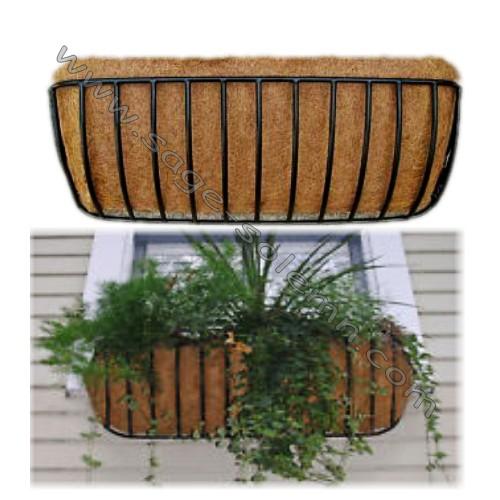 Terraza Hierro Forjado Ventana Caja Plantador Buy Ventana Cesta Cestas De Jardín Para La Venta Jardín Colgante Cesta Product On Alibaba Com