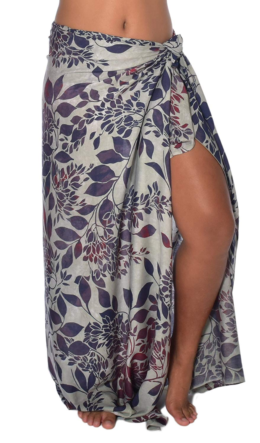 7a59aa9775 Get Quotations · Tropical Blossom Sarong Pareo BeachWrap Swimsuit Coverup