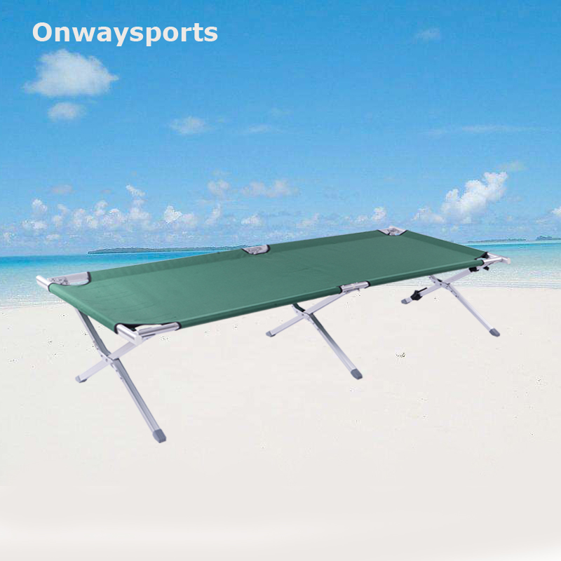 Onwaysports USA hot sale strong military folding metal folding cot OW-202