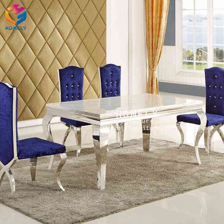 Baroque style marble top dining room table