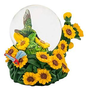Miniature Water Table Figurine Sunflower Snow Globe