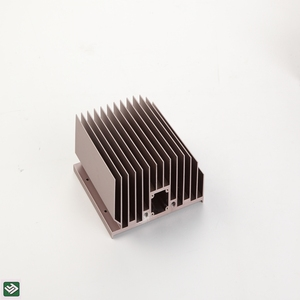 Copper Tube Aluminum Cooling Fins Custom Design Extruded Aluminum Heat Sink LY1092