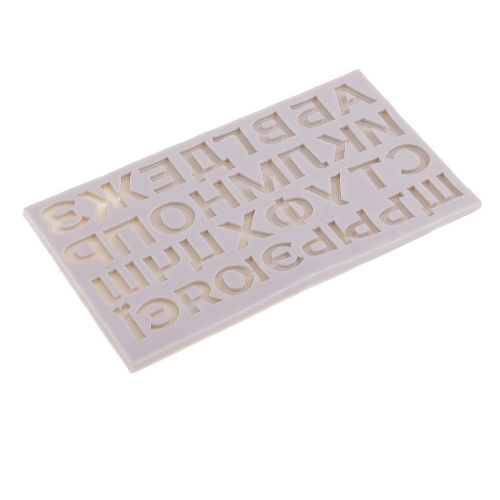 MagiDeal Letter Molds Liquid Silicone Cake Flip Sugar Mold Decoration Chocolate Mold