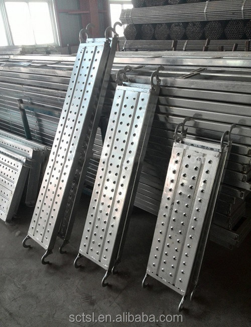 Construction Galvanized Metal Q235 steel scaffold / scaffolding plank hooks made in China