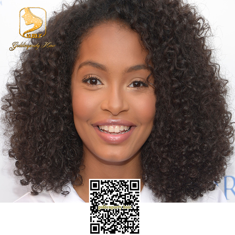 Top Quality afro kinky curl lace front wigs baby hair ...