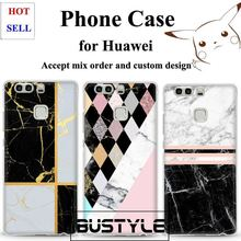 2017 High quality Soft TPU Marble Case for Huawei p9 p8 lite mobile phone case for iPhone 7s 6s plus