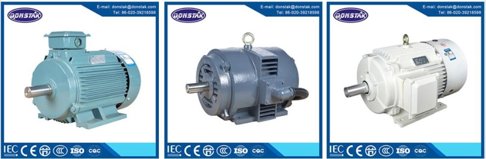 Two speed three phase ac electric induction asynchronous for 2 speed single phase electric motor