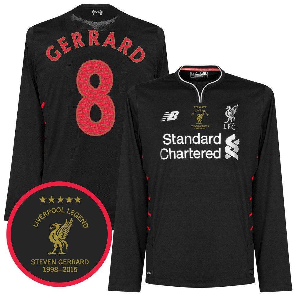 741c34ed1 Get Quotations · Liverpool Away L/S Gerrard Jersey 2016 / 2017 + Liverpool  Legend Transfer