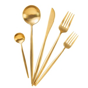 18/8 Matte Gold Cutlery Set PVD Plated Spoon Fork Knife