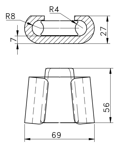 wanxie supply wedge type c crimp clamp connector