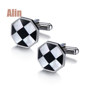 Football design steel silver cufflink for world cup gift