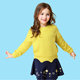 Low MOQ beautiful winter girls kids knitted pullovers sweaters
