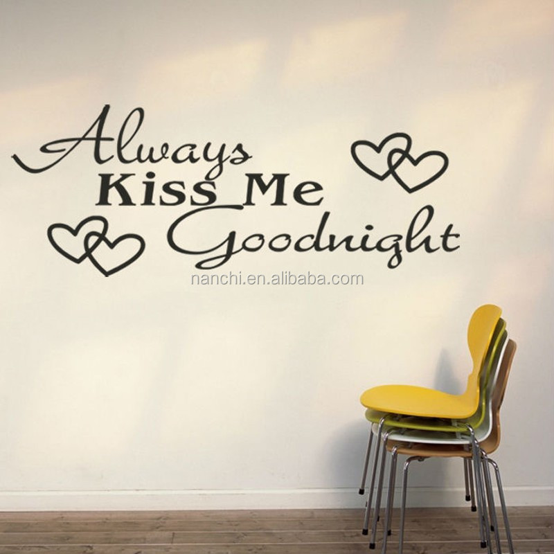https://sc01.alicdn.com/kf/HTB1CoXIMXXXXXbIaXXXq6xXFXXX5/Always-Kiss-Me-Goodnight-Love-Wall-Decals.jpg