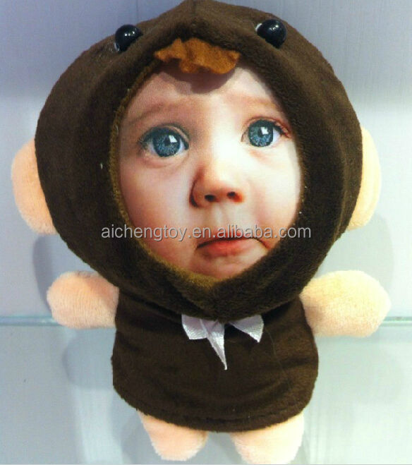 Diy 3d Face Frame Toyrealistic Human Face With Plush Toy View 3d