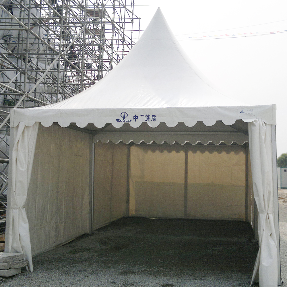COSCO Customized Size Pagoda Tent 5x5m Outdoor Aluminum Gazebo Tent