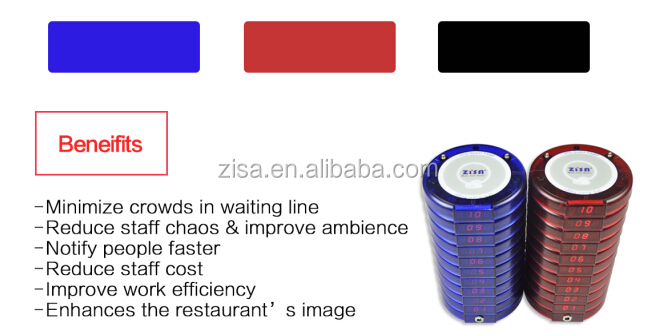 Zisacall Restaurant Coaster Pager System Wireless