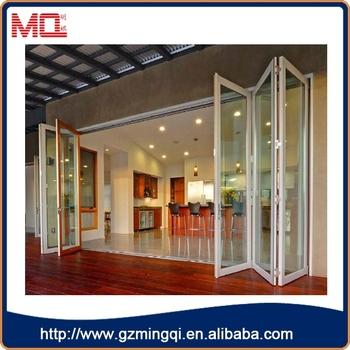 High Quality 6 Panels Aluminum Folding Glass Doors For  House/hotel/restaurant