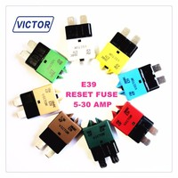 automotive fuse circuit breaker with manual reset thermal overload switch auto fuse