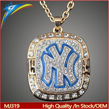 New Rhinestone Enamel 1999 Yankees Riviera Championship Necklace Pendants For Men