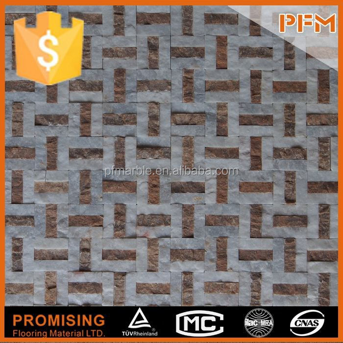 wholesale well polished beautiful square marble mosaic stepping stone patterns
