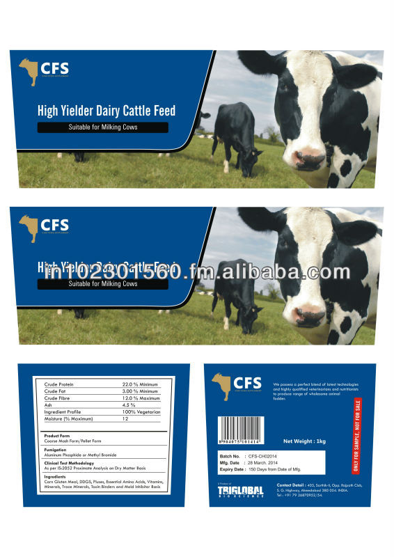 Cow Feed High Yielder Dairy Cattle Feed (100% Natural Vegetarian & Organic  Feed) - Buy Cattle Concentrate Feed Product on Alibaba com