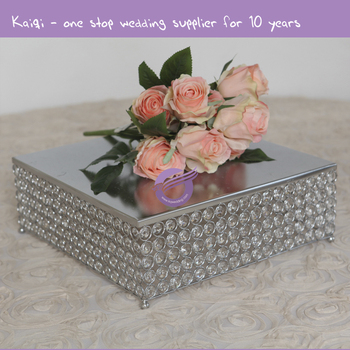 Zt00530 Metal Square Crystal Luxury Centerpieces Wedding Decoration