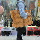 High Quality Luxury Dye Fox Fur Handbag / Winter Wine Fox Fur Bag