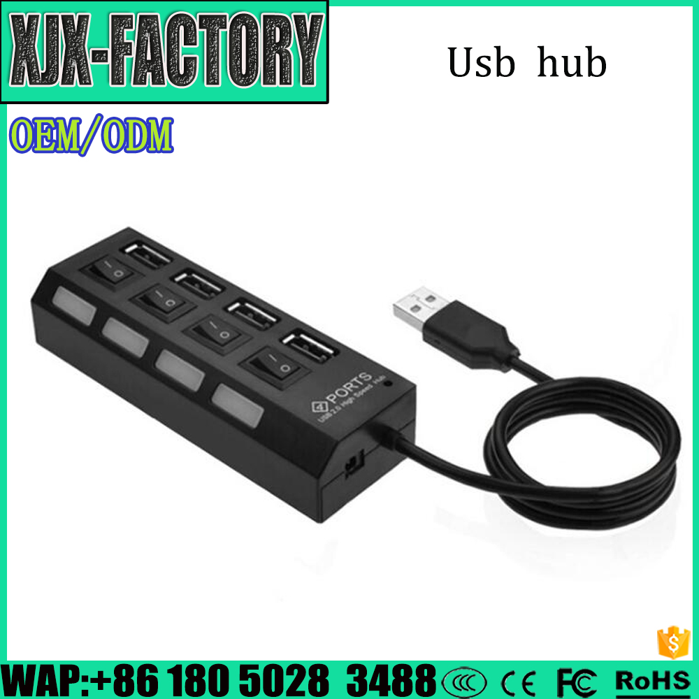top 10 seller 4 port 2.0 battery powered usb hub With Good Quality