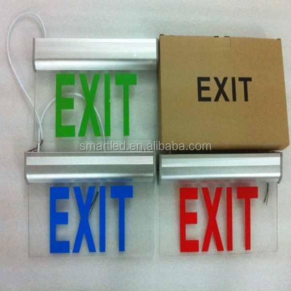 Self Illuminating Exit Signs Ce Rohs Saa Recessed Emergency Exit ...