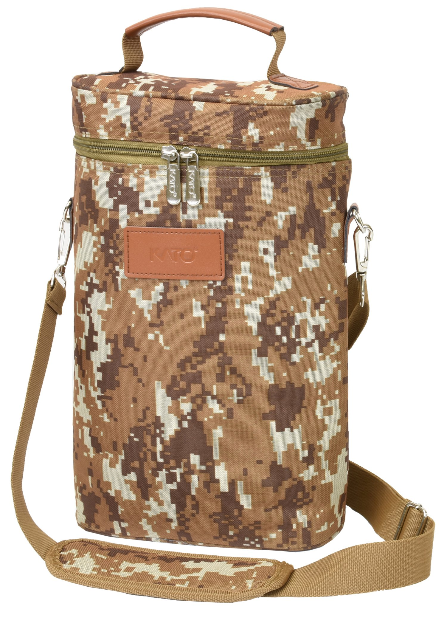 0d4266569 Get Quotations · Camouflage Military Wine Bag - Insulated 2 Bottle Travel  Padded Wine Carrying Cooler Carrier Tote with