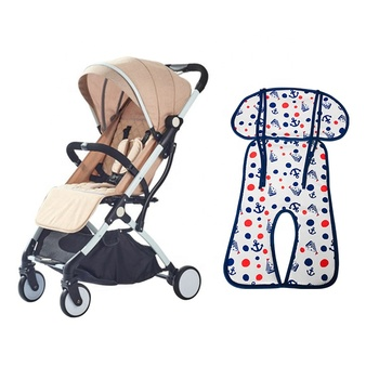 Custom washable blue wellcool 3d air mesh baby stroller seat liner