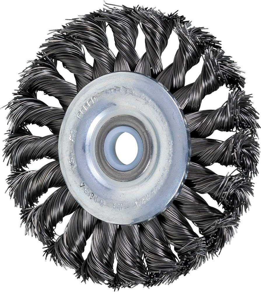 Pack of 5 Steel Wire Straight Wheel ?2/1//2 Arbor Hole Diameter-5//8