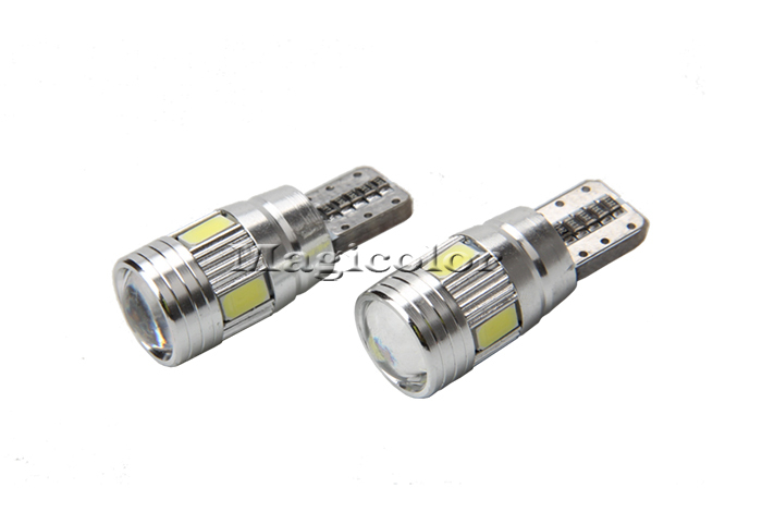 T10 Wedge 6 Smd 5760 360 Degree 12 Volt D.c Led Light Bulb