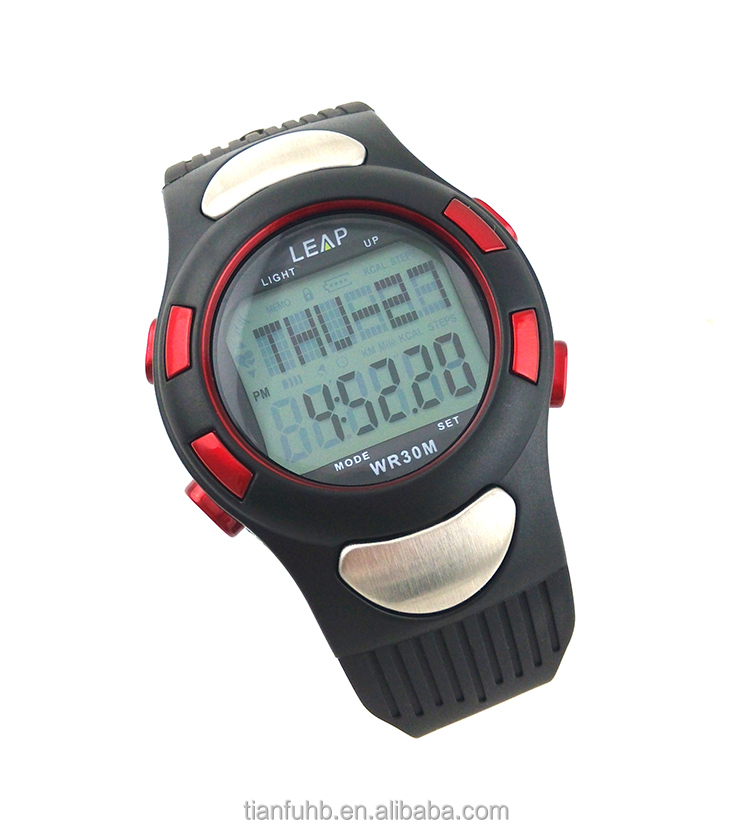 sport body fitness heart rate meter pulse watch/wrist watches/heart rate watch with pulse alarm clock