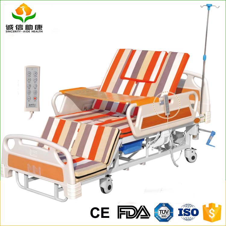 2017 New design cheap price hospital CO5 electric home furnishing whole ture over nursing bed