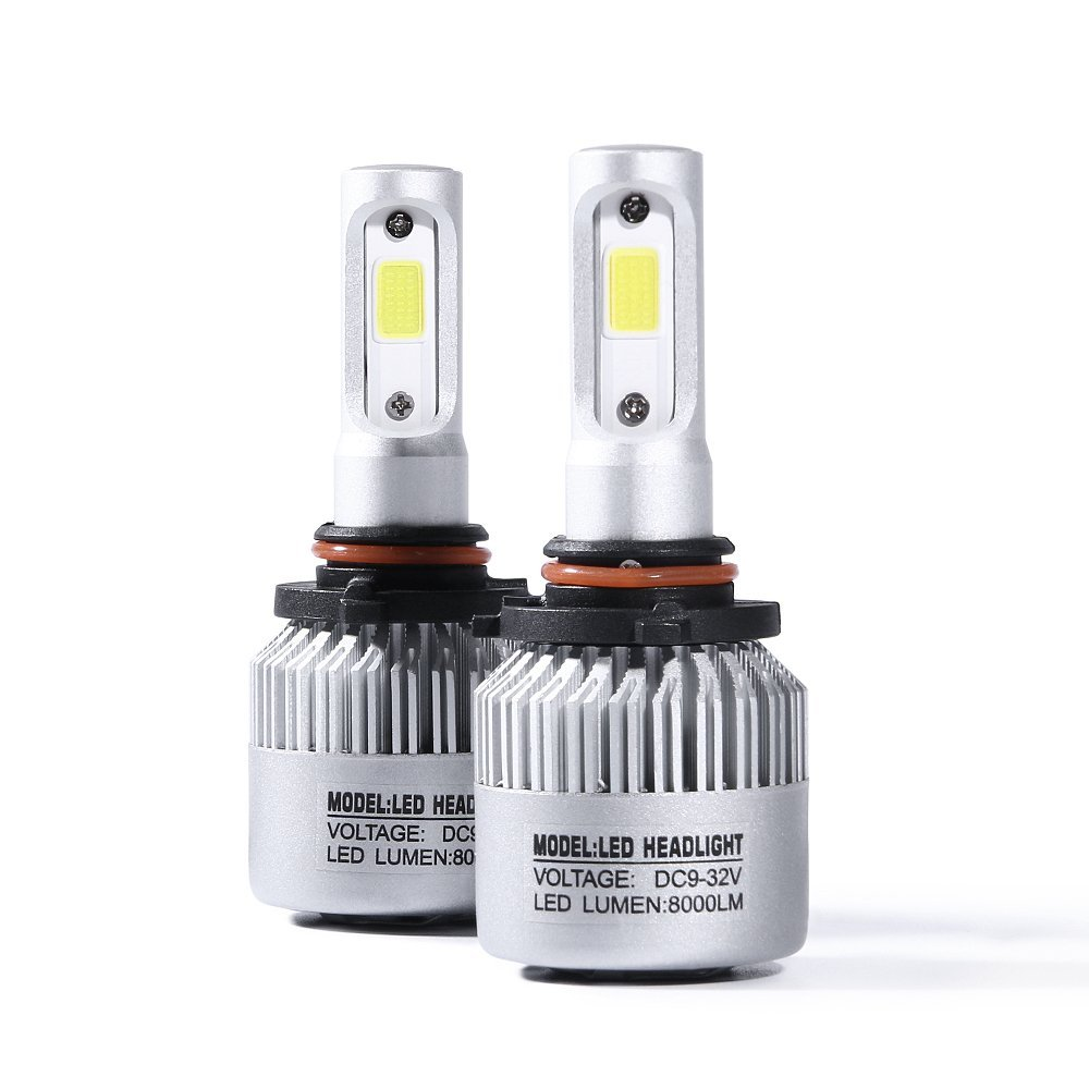 Led Headlight Bulbs Conversion Kits 9005 S2 Series Automotive Headlamp Replacement Bulbs COB Chip 6500K 72W 8000lm 1Pair Pack