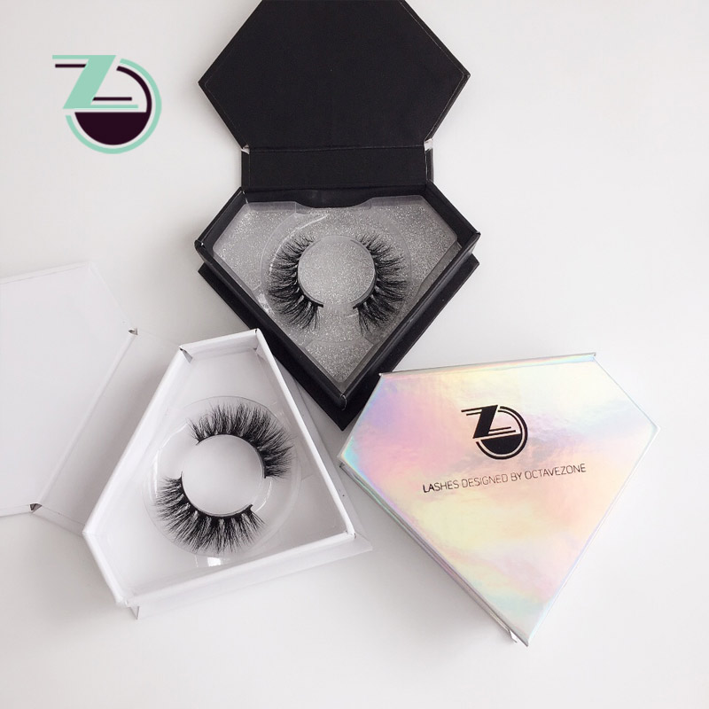 Hot Selling Mink Strip Eyelashes 3d Real Mink Fur False Eyelash Custom Lash Packaging