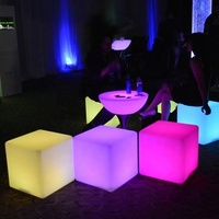 Factory portable custom light up furniture bar party event decorative led cube sofa