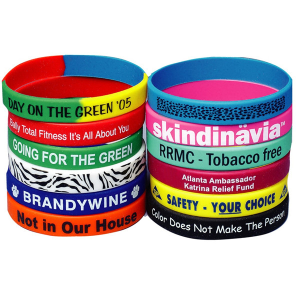 wristbands debossed bracelets color silicon sleek filled bands silicone product fill