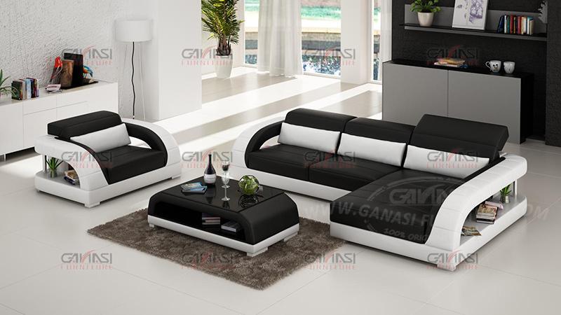 Space Saving Design Armrest Modern Leather European Style Sofa