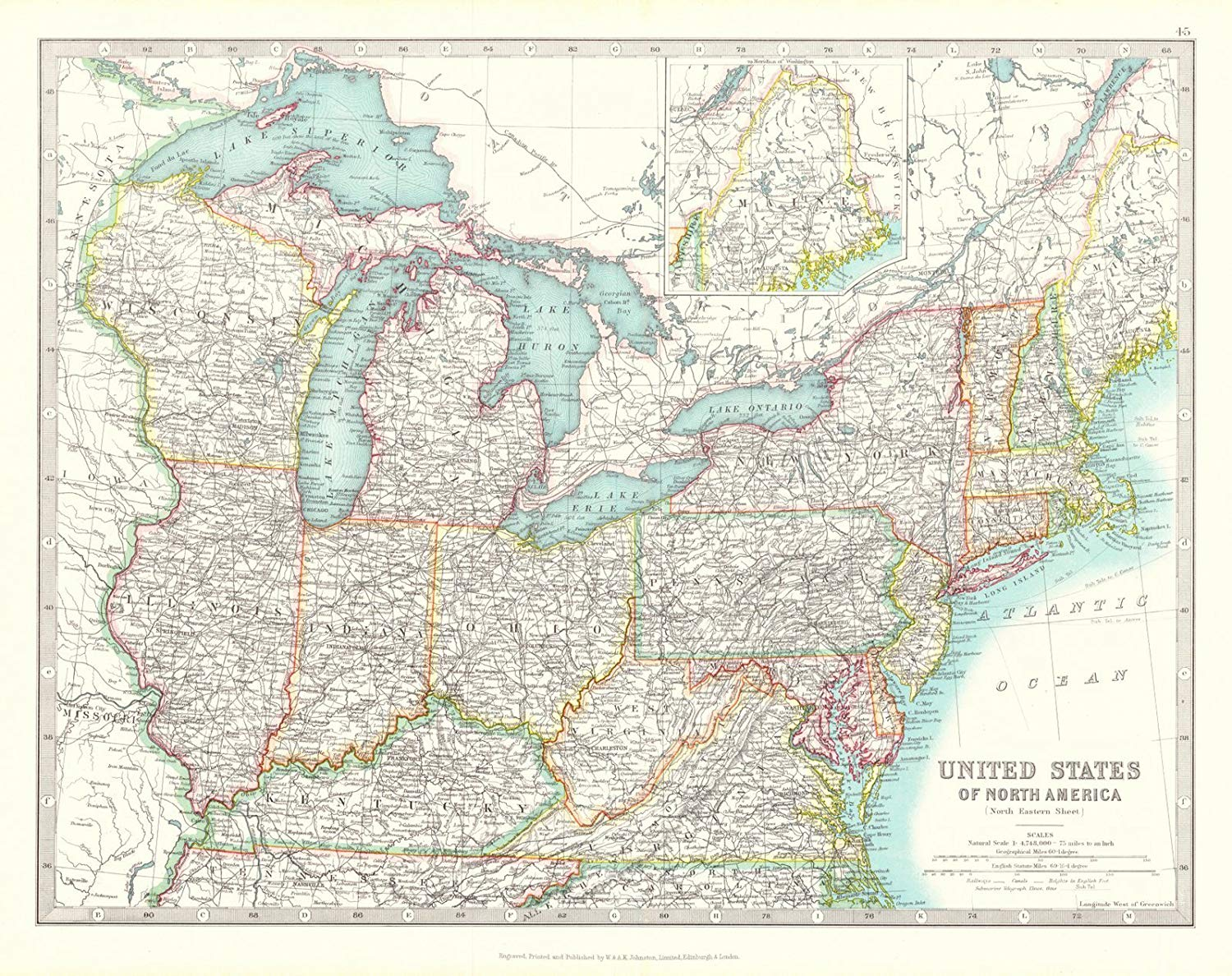 Cheap Map Of North Eastern Usa, find Map Of North Eastern ...