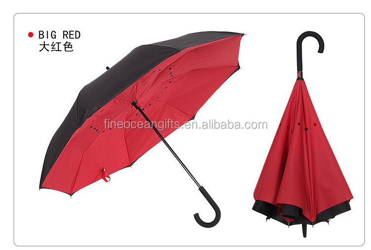 Eco-friendly Pongee Material upside-down umbrella