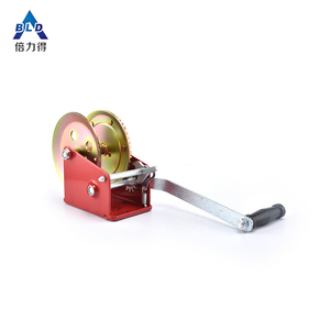 Factory supplier powder coated hand winch manufacturer mini wire rope  ratchet winch boat trailer brake cable puller winch