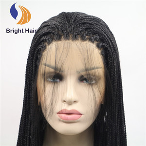 cheap synthetic lace front BRAIDING wigs